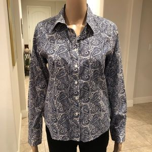 Paisley button-down from Talbots